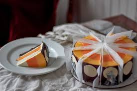 halloween sheet cakes engrained full moon candy corn cake with caramel buttercream and