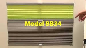 plissee verdunkelung zwei plissees in einem modell bb34 youtube