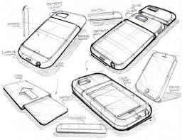 industrial design good sketch style phone sketching