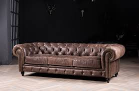 Leather Chesterfield Style Sofa Chesterfield Sofa Classic Sofa With Vintage Leather For Antique
