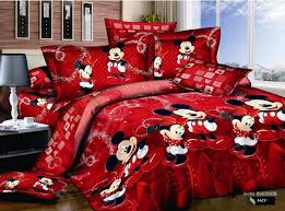 red mickey minnie mouse bedding sets disney cartoon bedspread