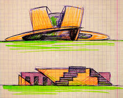 sketch of the architectural form of the building09 by demiteli on