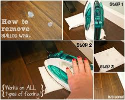how to remove spilled wax ask