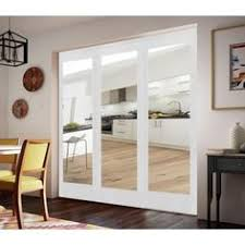 Interior Sliding Doors Home Depot Impact Plus 60 In X 80 In Mir Mel Mirror Solid Core Primed Mdf