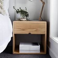 Bedside Tables American Oak Bedside Table Scandinavian Style The Local Project