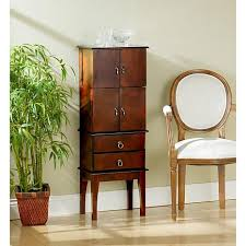 brown jewelry armoire jewelry armoire cherry 6221909 hsn