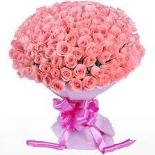 bouquet of roses pink roses bouquet 100 flowers supergift4u