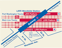grand central terminal map mta lirr woodside service
