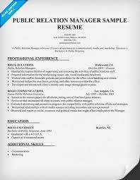 Resume For Communications Job by Public Relations Resume Template