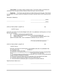 quitclaim deed template new jersey free download
