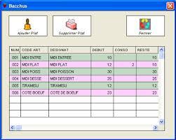 logiciel fiche technique cuisine logiciel de restaurant bacchus prévoyez le nombre de plats du