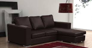 Black Leather Corner Sofa Sammi Corner Sofa Black Brown Rjf Furnishings