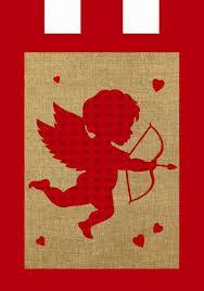 Valentine S Day Flags Valentines Day Cupid Garden Flags Valentine U0027s Day Wikii