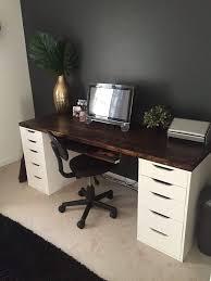 Ikea Studio Desk by Office Desk With Ikea Alex Drawer Units As Base Office