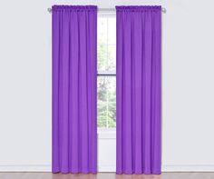 Curtains With Purple In Them Buy Sun Zero Emory Room Darkening Rod Pocket Curtain Panel Pair