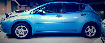 nissan blue car nissan leaf 1 again non luxury traditional compact car in ihs