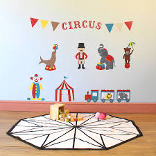 circus friends childrens wall stickers by parkins interiors circus friends childrens wall stickers
