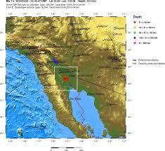 Mexico On Map Mw 7 2 Baja California Mexico On 04 04 2010 At 22 40 Utc