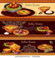 set cuisine indian cuisine restaurant set vegetable เวกเตอร สต อก