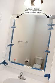 Trim Around Bathroom Mirror How To Frame A Bathroom Mirror How To Nest For Less
