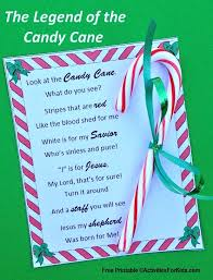 legend of the candy legend of the candy printable candy canes free printable and
