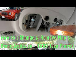 jeep wrangler map light replacement how to change remove map lights dome lights 2009 jeep patriot