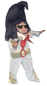 1950 Halloween Costume Big Head Rock Roll King Costume Elvis Costumes 1950