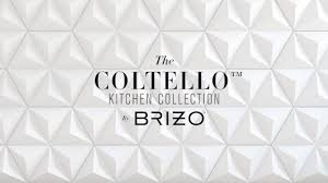 the coltello kitchen collection by brizo youtube