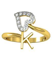 jewelscart alphabet k heart shape valentine gift gold plated