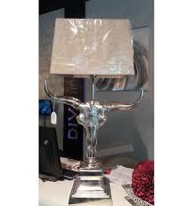 Wohnzimmer Tisch Lampe Lampenfuß Tischlampe Mit Büffelschädel