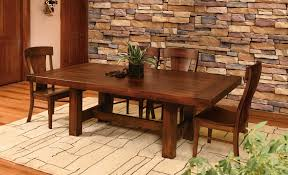 history of the trestle dining room table amish direct furniture