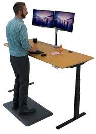 Standing Desk On Wheels Imovr Elite Electric Height Adjustable Desk