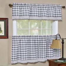 Cafe Tier Curtains Checked Cafe Tier Curtains Ebay
