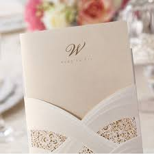 fancy wedding invitations foil sted laser cut ivory pocket wedding invitations
