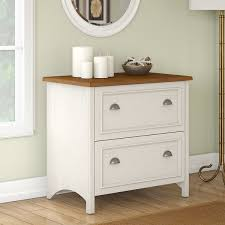 Bush Stanford Lateral File Cabinet Stanford 2 Drawer Lateral File Cabinet In Antique White And Tea