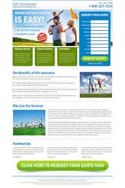 medical life and health insurance landing page design for sale