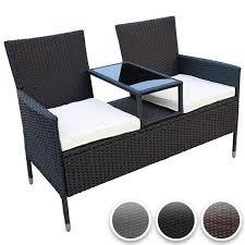 balkon liege sitzbank garnitur balkon set garten liege lounge terrasse stühle