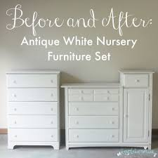 Nursery Furniture Set by Before And After Antique White Nursery Furniture Set