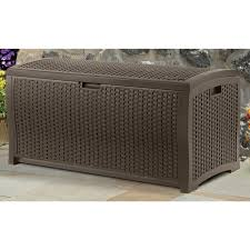 Home Depot Outdoor Storage Bench Furniture Suncast Deck Box Pool Deck Boxes Outside Storage Bins