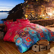 luxury boho bedding sets queen king size bedclothes bohemian duvet