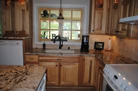 kitchen cabinet backsplash hickory cabinets gold and silver granite tile backsplash