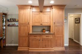 kitchen with craftsman style case indy
