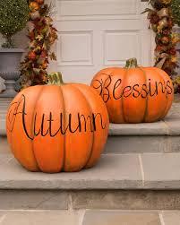 fall pumpkin decoration fall outdoor decorative pumpkins balsam hill