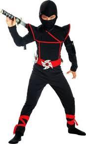 sewing pattern ninja costume ninja costume black sweats lots of red fabric strips this should