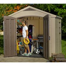 Backyard Storage Ideas Decorating 6x8 Ft Keter Shed With Small Window For Outdoor