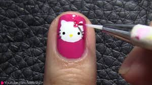 hello kitty nail designs for short nails image collections nail