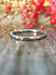 women s engagement rings jewelry 1 4mm hammered wedding band solid 14k white gold
