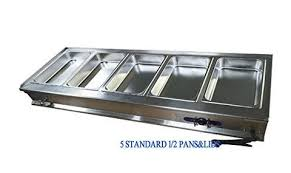 110v 3 pot electric commercial bain marie buffet food sause