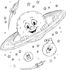 planets colouring pages pics space