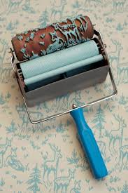 paint rollers with patterns easily recreating the look of a classic wallpaper patterned paint